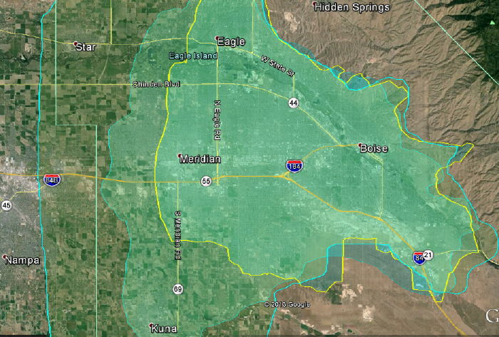 IdahoWiFi Coverage Maps Zone 1 & Zone 2 2014